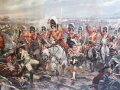 The Scots Greys and Gordons at Waterloo