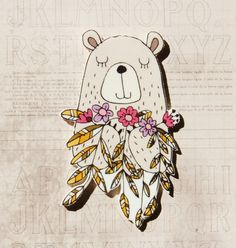 Hey, I found this really awesome Etsy listing at https://www.etsy.com/uk/listing/460668634/bear-with-flowers-shrink-plastic-brooch