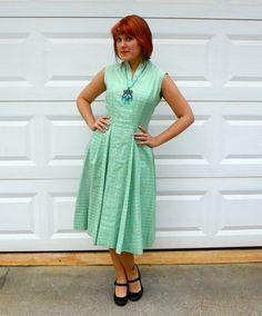 1960s Suzy Perette Mint Green Casual Dress