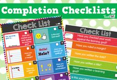 Work Completion Checklists