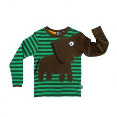 Elephant tee, green/khaki - Kuopus