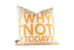Inhabit Decorative Pillows, Why Not in Sunshine