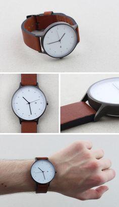 Instrmnt Watch.  Great minimal design.  So clean.  #watch #timepiece