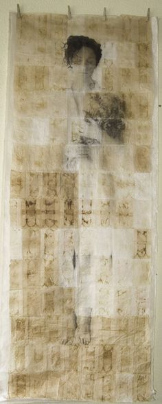 "Saatchi Online Artist: Carolina Larrea; Lithography, 2011, Printmaking ""Impremanence (T version)"""