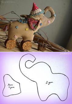 Сшей слона! Выкройка от Светланы Мацкевич #diy #template #toy: