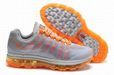 Nike Air Max 360 2012 Grey Orange Shoes For Men zJTq3