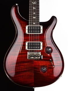 ★☆★☆ 2013 PRS Custom 24 Fire Red Burst Flame Maple 57 08 Pups Paul Reed