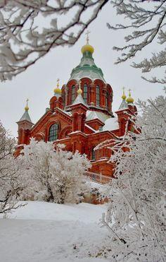 La cathédrale Ouspenski à Helsinki