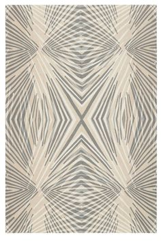 Reflections by Allegra Hicks for The Rug Company #crewelwork #wool #handstitched #rug #therugcompany #neutral