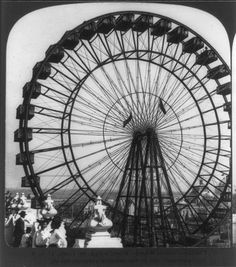 The Great Ferris Wheel at the St. Louis World's Fair    St. Louis, Missouri, circa 1904, Stereograph