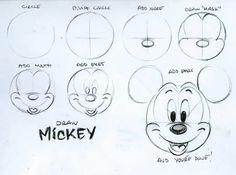 Disegnare volto topolino