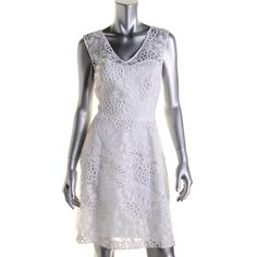 Betsey Johnson 6938 Womens Ivory Lace Overlay A Line Party Cocktail Dress 8 BHFO | eBay