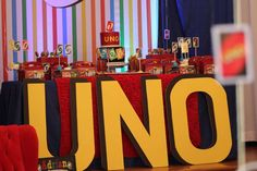 Awesome Uno themed first birthday party! See more party ideas at CatchMyParty.com!