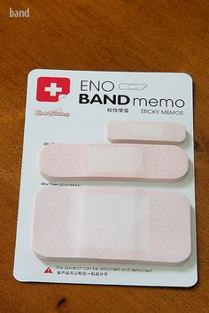 band-aids... because I'm clumsy.