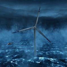 Und hier noch ein cooles Bild von einer Windturbine.