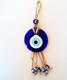 Macrame Evil Eye Home Decor Evil Eye Charm, Plastic Jewelry, Hamsa Hand, Blue Beads, Cute Jewelry, Decoration, Charmed, Eyes, Wallet