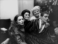 Romy Schneider, alain delon, and their mothers