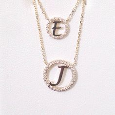 Small 14k Gold Initial with Diamond Outline by SkinnyBling on Etsy