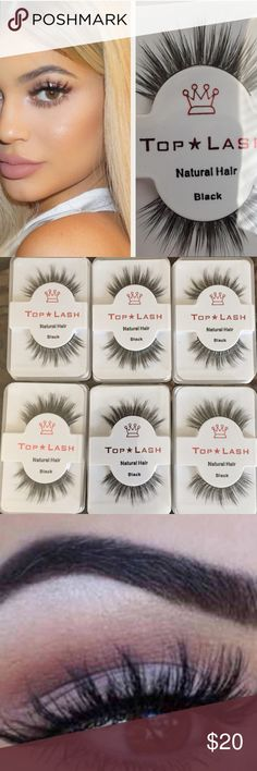 6 Pack Kylie Style Mink Wispy Lashes Kylie Style Mink Wispy Set of Lashes 6 Pack for only $18 Natural Lash  Reusable Kylie Style Mink Wispy Lashes  Beautiful Natural Hair Falsies  Similar to Lilly lashes, Ardell Wispies.  Message me if you would like to purchase more than 6 for a grater discount! Bundle for a special discount and to save on shipping! Makeup