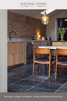 Belgian blue limestone is one of the most durable natural stone materials available in our range. It is available in a number of finishes including with a honed, smooth surface and also an aged finish. Available in a number of finishes and as a bespoke item, you'll find everything you need on the website. #naturalstoneconsultancy #naturalstoneflooring #limestoneflooring Flagstone Flooring, Limestone Flooring, Natural Stone Flooring, Quarry Tiles, Stone Tiles, Luxury Interior, Interior And Exterior, Belgian Blue, Outdoor Paving