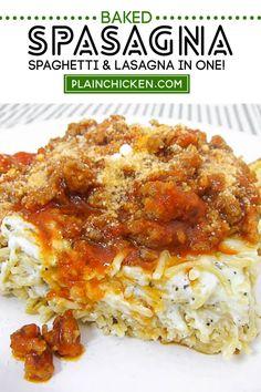 Easy Casserole Recipes, Pasta Recipes, Beef Recipes, Chicken Recipes, Baked Spaghetti Recipes, Baked Pasta Dishes, Hamburger Recipes, Copycat Recipes, Dinner Recipes Easy Quick