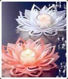 Elişi ve Hobi Çalışmaları: Kağıttan Çiçek Şeklinde Mumluk Yapımı