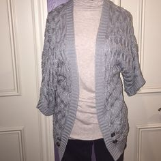 Long gray cardigan Elbow length sleeves, oversized gray open cardigan. Lightweight and in perfect condition Daytrip Sweaters Cardigans