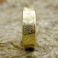 Hand Made Finger Print Ring or Thumbprint by AdziasJewelryAtelier