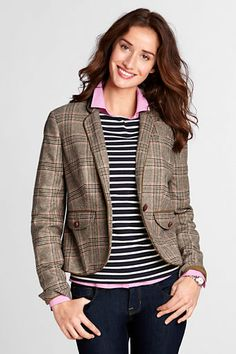 Women's 1-button Piped Jacket from Lands' End