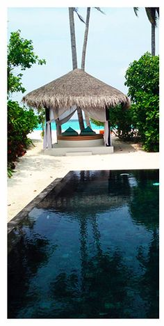 We loved our private pool villa at the Iru Fushi resort, in the Maldives