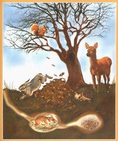 Használja a nyilakat, kapcsoló a lejátszott kép Animal Habitats, Tree Illustration, Autumn Activities, Forest Animals, Winter Theme, Animals For Kids, Art Tutorials, Illustrations Posters, Mammals