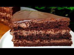 ШОКОЛАДНЫЙ ТОРТ ВКУСНЕЕ ЧЕМ ПРАГА☆ПОЧЕМУ Я ТАК РАНЬШЕ НЕ ГОТОВИЛА? - YouTube Chocolate Cake, Biscuit, Muffins, Deserts, Food And Drink, Pie, Tasty, Sweets, Bread