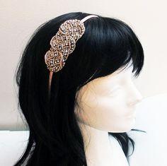 Elegant Beaded Twist Luxury Party Headband Wedding by eorostyle