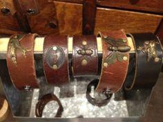 bombshell betty leather bracelets