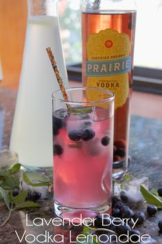A light and refreshing cocktail recipe for this summer is a lavender blueberry vodka lemonade. Create your own vodka infusion with Prairie Organic Spirits.