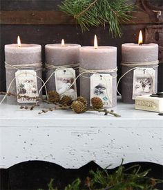 customised candles