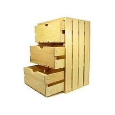 3 Drawer Crate you can make your own. You wil need to buy the  side runners  or drawer spacers at the hardwear store. I think this would be great for kids rooms or as storage bends for the basement