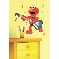 Elmo Rock & Roll Guitar Wall Giant Wall Decal RMK1928GM  $18.49