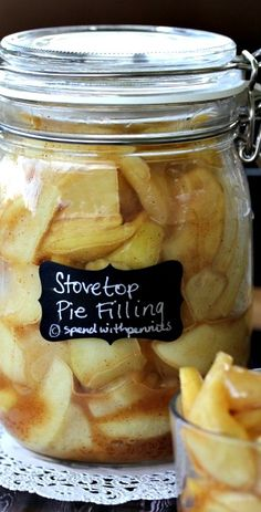 Stovetop Apple Pie Filling Recipe ~ quick and easy