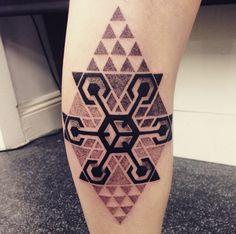 New geometric dotwork piece by Dotwork Damian @ Blue Dragon Tattoos, Brighton UK : tattoos