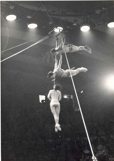 Trapeze artists  Courtesy of Mr Caton  Hippodrome Circus c. 1960