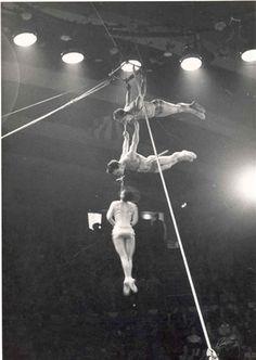 Trapeze artists  Courtesy of Mr Caton  Hippodrome Circus c. 1960