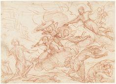 Simone Cantarini | De roeping van een Christelijke Ridder, Simone Cantarini, 1622 - 1648 |