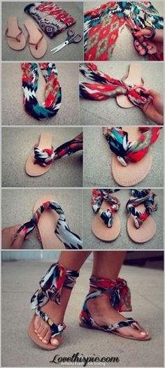 MAKE OLD FLIP FLOPS LIKE NEW! REFASHION YOUR OLD CLOTHES!