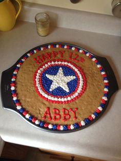 Captain America cookie cake