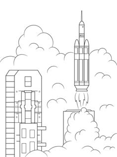 10 Best Spaceship Coloring Pages For Toddlers | Coloring pages ... | 316x236