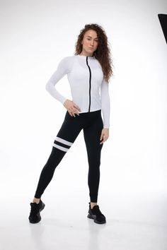 Black-and-White Sports Suit/Women Sports Suit/White Sports   Etsy Kids Climbing, Sporty, All Gifts, Wood Colors, Black And White, Style, Women, Fashion, Swag