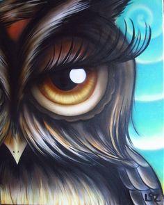 'I See You :)' by Elizabeth Letourneau - owl