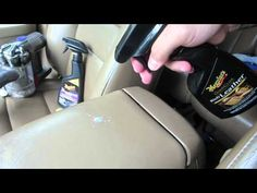 Cleaning 7 Year old Car Leather Amazing Results - YouTube