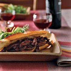 Beef Tenderloin Sandwiches with Norton-Shiitake Sauce | Food & Wine